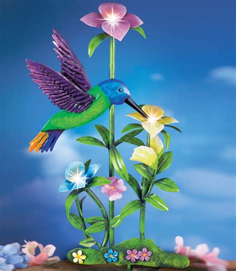 Hummingbird With Flowers Solar Garden Stake Fresh Garden Solar Garden Flowers