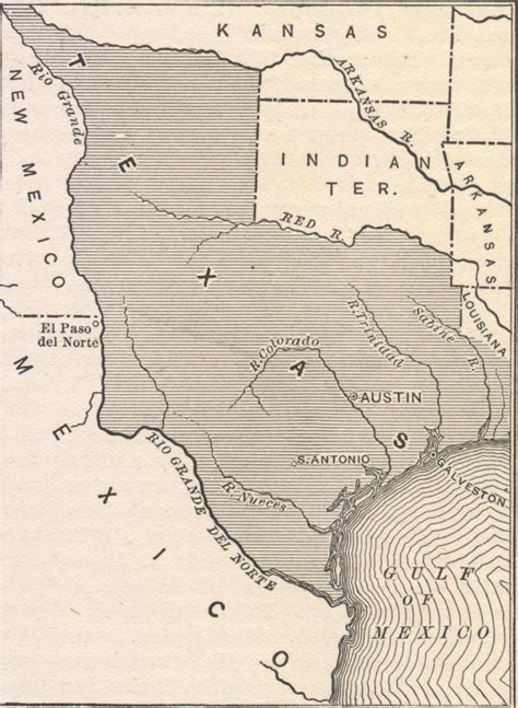republic of texas map 1845 annexation of texas lina rosa