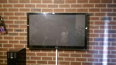 how high to mount tv on wall in living room tv installation on brick wall in ascot vale antennify