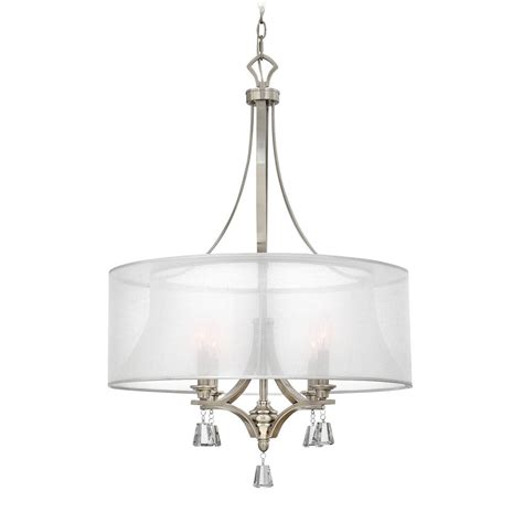 White Pendant Drum Light Modern Drum Pendant Light With White Shade In Brushed Nickel Finish Fr45604bni Destination