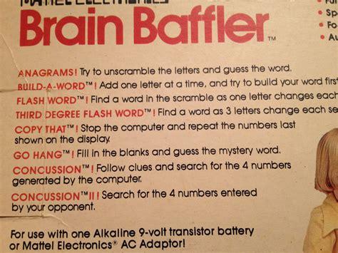 ode to the brain baffler mattel 1979 tinsel ode to the brain baffler mattel 1979 tinsel