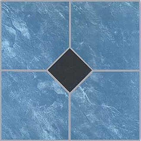 Blue Floor Tile Blue Vinyl Floor Tile 40 Pcs Adhesive Bathroom Flooring