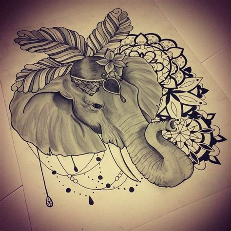 elephant headdress tattoo really felt the urge to do an elephant elephant