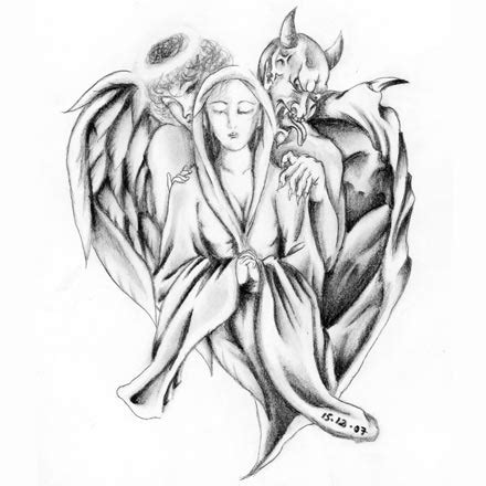 angel and demon tattoo drawings angel and devil tattoo的圖片搜尋結果 tattoo idea pinterest