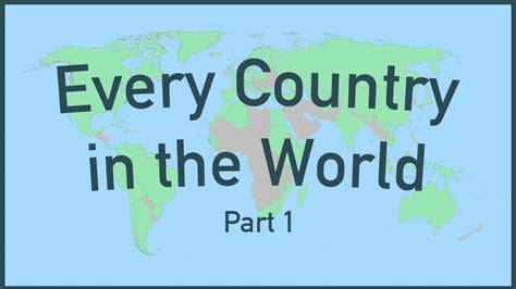 The Word every country in the world part 1
