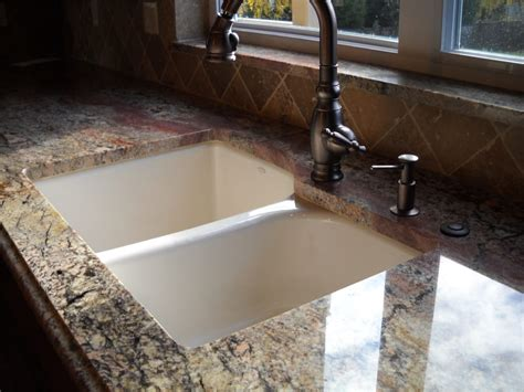 how to install undermount bathroom sink to granite stone slab install with undermount sink yelp