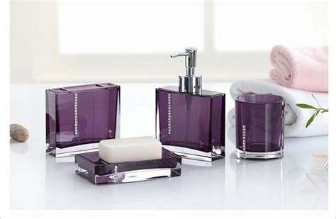 purple bathroom accessories image purple bathroom accessory set