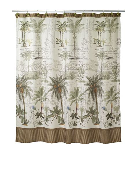 avanti shower curtain avanti colonial palm collection shower curtain stage stores