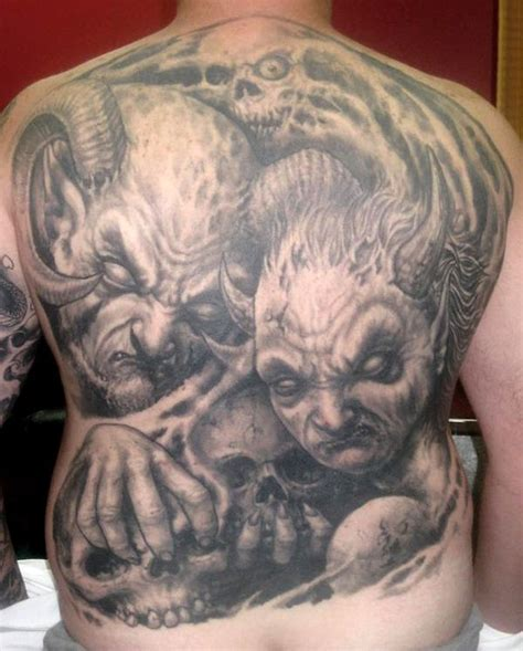 tattoo pictures skulls demons demon tattoos and designs page 130
