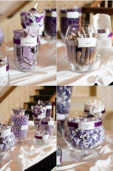 grey and purple wedding favors decor ideas awards oscars