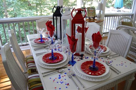 Fourth Of July Table Decoration Ideas by Tablescape For The 4th Of July