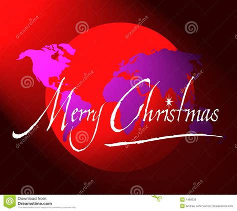 merry christmas world map  globe royalty  stock