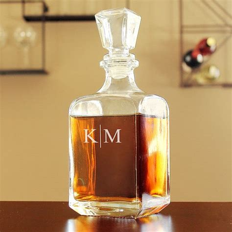 personalized barware gifts personalized glass whiskey decanter engraved barware