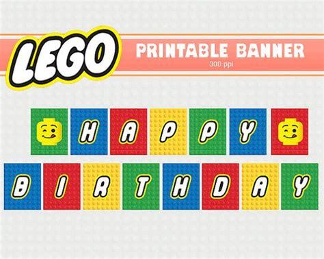 Free Printable Lego Banner