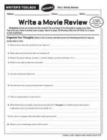 write a movie review 6th 10th grade worksheet lesson