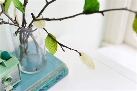 Paper Leaves - diy crepe paper leaf branches