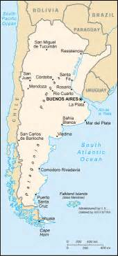 south america map argentina map of argentina