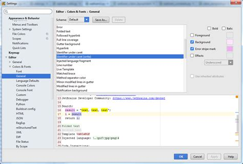 pycharm color schemes python pycharm how to adjust color of variable syntax