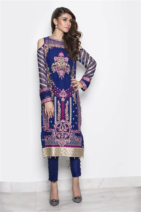 latest party wear embroidered shirts   designs