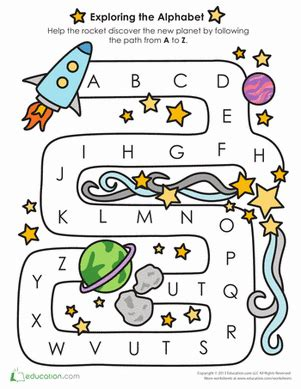 Learning The Alphabet Worksheets by Alphabet Learning Follow The A To Z Path Worksheet