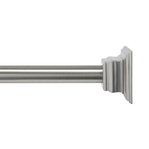polished nickel shower curtain rod kenney claire tension shower curtain rod brushed nickel