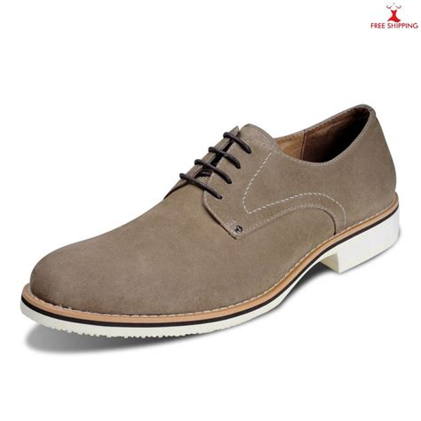 Casual Oxford Shoes mens casual shoes 2013 laced oxford suede khaki