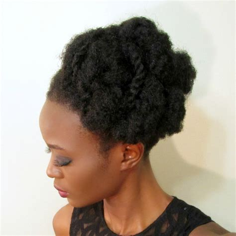 4c twistout updo 4c hair updo work style three updos for 4c natural hair