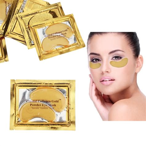 Collagen Gold Eye Mask 3 gold bio collagen eye masks luxpore