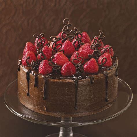 Celebration Cake Ideas by Chocolate Strawberry Celebration Cake Recipe Taste Of Home