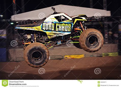 bad to the bone monster truck video monster truck mid air editorial photo image 59059571