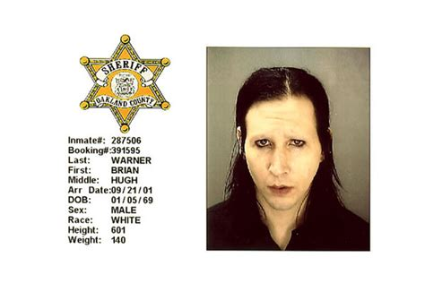 marilyn manson mug shot the smoking gun