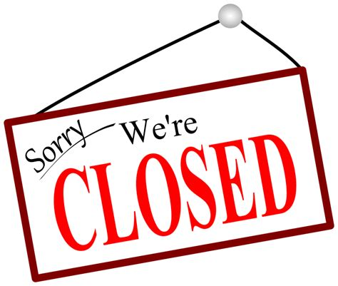 we are closed sign template clipart sorry we re closed door sign