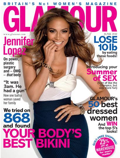 jennifer lopez covers the debut issue of glam belleza jennifer lopez covers glamour magazine june 2012 issue