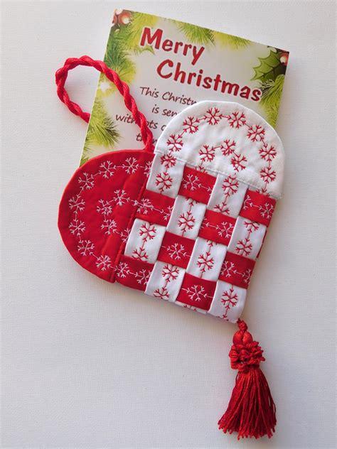 Inside Christmas Decorations how to make a fabric scandinavian heart weallsew