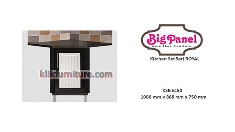 Sofa Sudut Di Bawah 2 Juta kitchen set bawah sudut ksb 6150 royal bigpanel sale promo