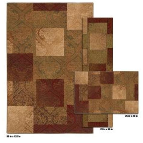 Mohawk Kitchen Rug Sets Mohawk Home Eloquence Gold 8 Ft X 10 Ft 3 Rug Set Discontinued 298777 The Home Depot