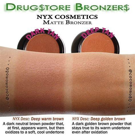 Nyx Bronzer drugstore bronzers nyx cosmetics matte bronzer swatches