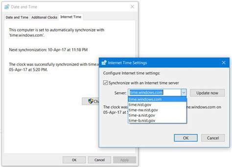 add  change time server  windows