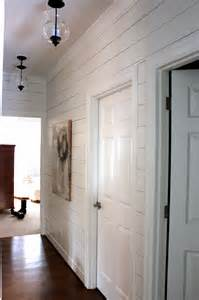 Hallway Light Fixtures Planked Wall Hallway Gets New Light Fixtures Forever Cottage