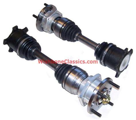 goodparts cv rear axles with uprated hubs tr4a tr250 tr6 wishbone classics