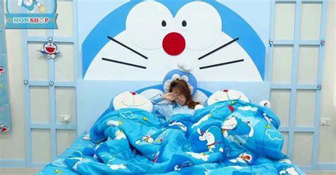 Sprei Doraemon Line No 3 No 4 Single desain kamar tidur tema doraemon minimalis kumpulan desain terlengkap