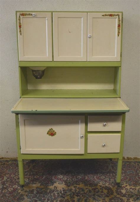 antique 1920 s hoosier cabinet with flour sifter porcelain