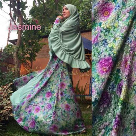 Gamis Syar I Almeda Mint mint baju muslim gamis modern