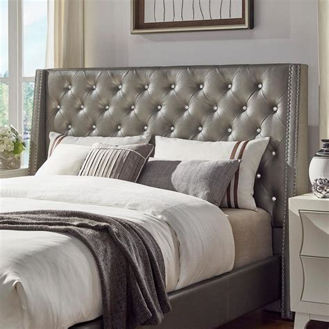 homesullivan venus silver metallic queen headboard