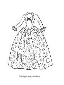 dress coloring pages coloring pages of s dress coloring