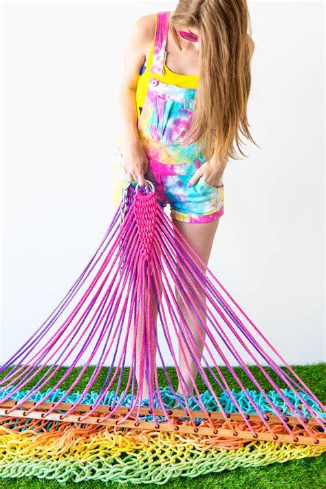 tye dye diy rainbow tie dye hammock studio diy