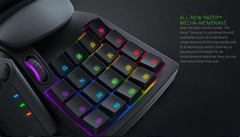 Razer Tartarus Membrane Gaming Keypad Razer Tartarus V2 Chroma Mecha Membrane Wired Gaming Keypad