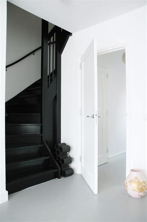 black staircase 7 ways to get black paint right in your home photos