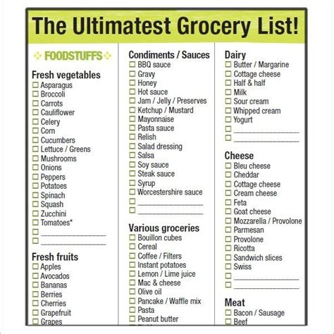 printable grocery list template by department sle list price list template sles and templates