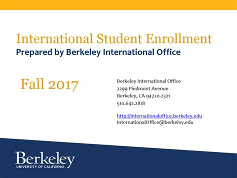 Uc Berkeley Mba Courses Fall 2017 by International Student Enrollment Data International Office